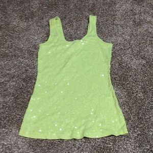 Express lime green sequin tank S